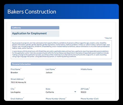 compliant job application