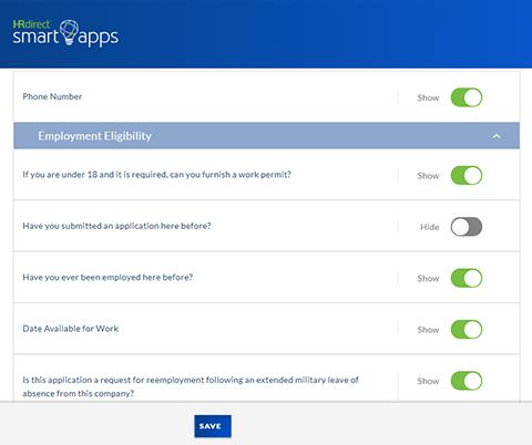 edit job application questions
