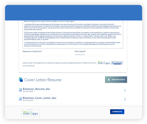 accept resumes online