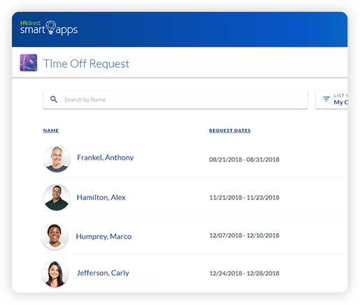 The Time Off Request app from HRdirect allows business owners to easily say yes or no to employees time off requests